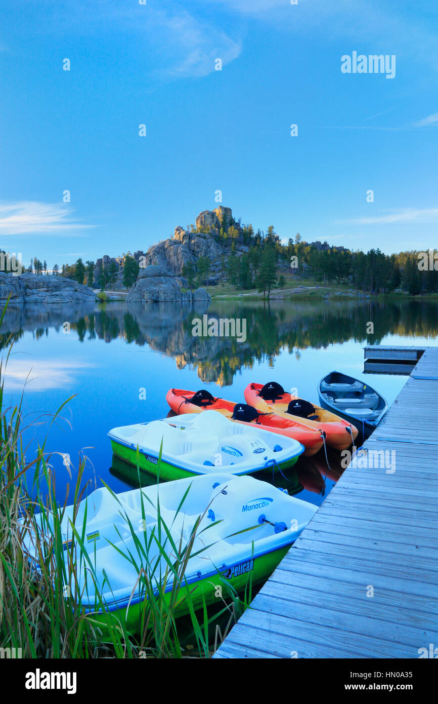 Sylvan Lake, Custer State Park, Black Hills, South Dakota, USA, - Stock Image