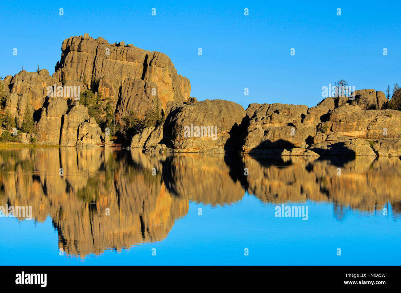 Sylvan Lake, Custer State Park, Black Hills, South Dakota, USA, - Stock Image