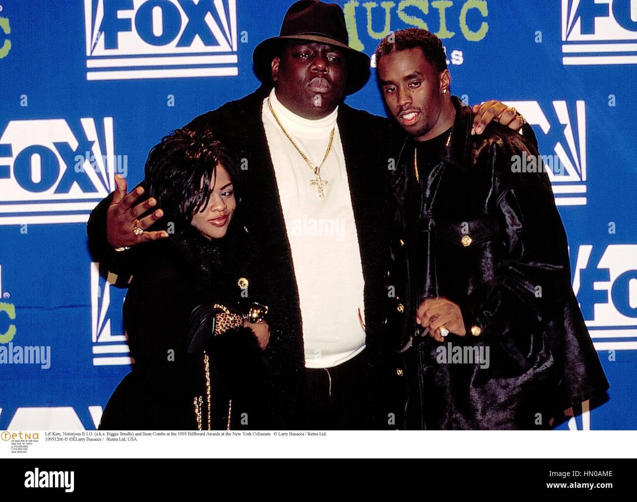 fa520c109 Lil' Kim, Notorious B.I.G. (a.k.a. Biggie Smalls) and Sean Combs at the