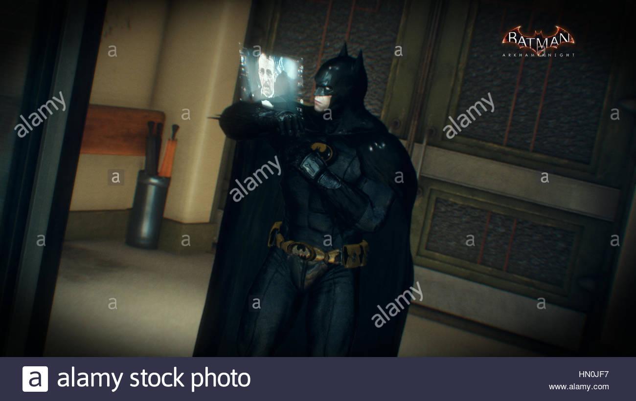 A screenshot from Batman Arkham Knight - Stock Image