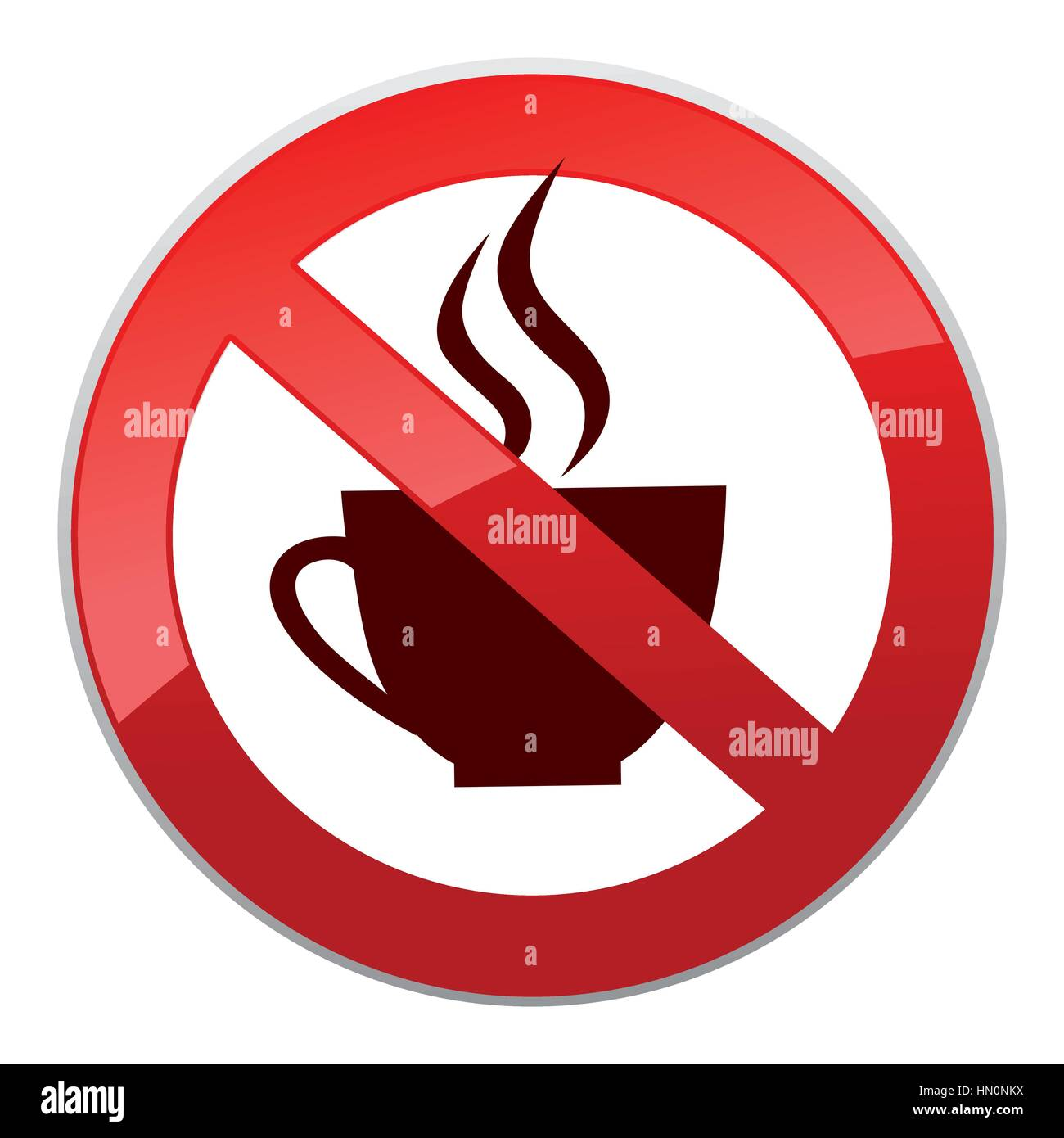 Drinks are not allowed. No coffee cup icon. Hot drinks ...