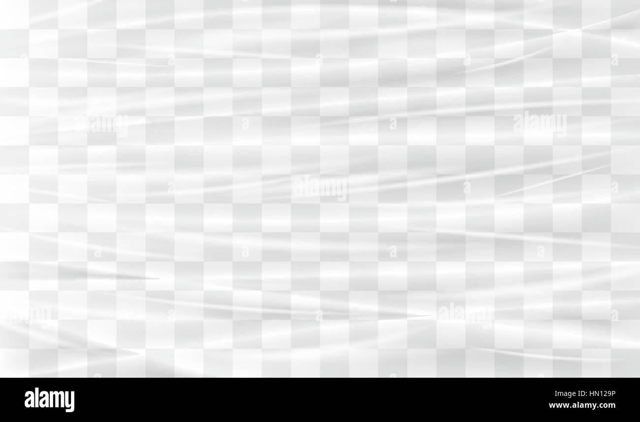 transparent plastic warp - Stock Vector