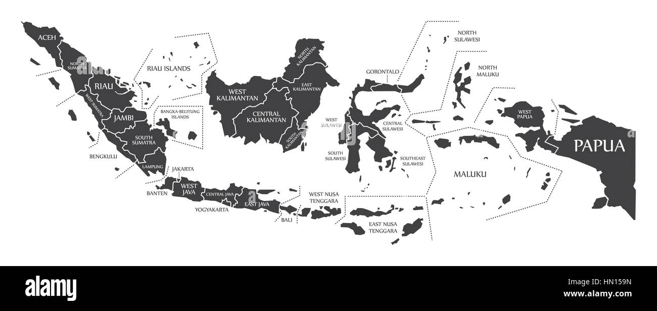 Picture of: Indonesia Map Black High Resolution Stock Photography And Images Alamy