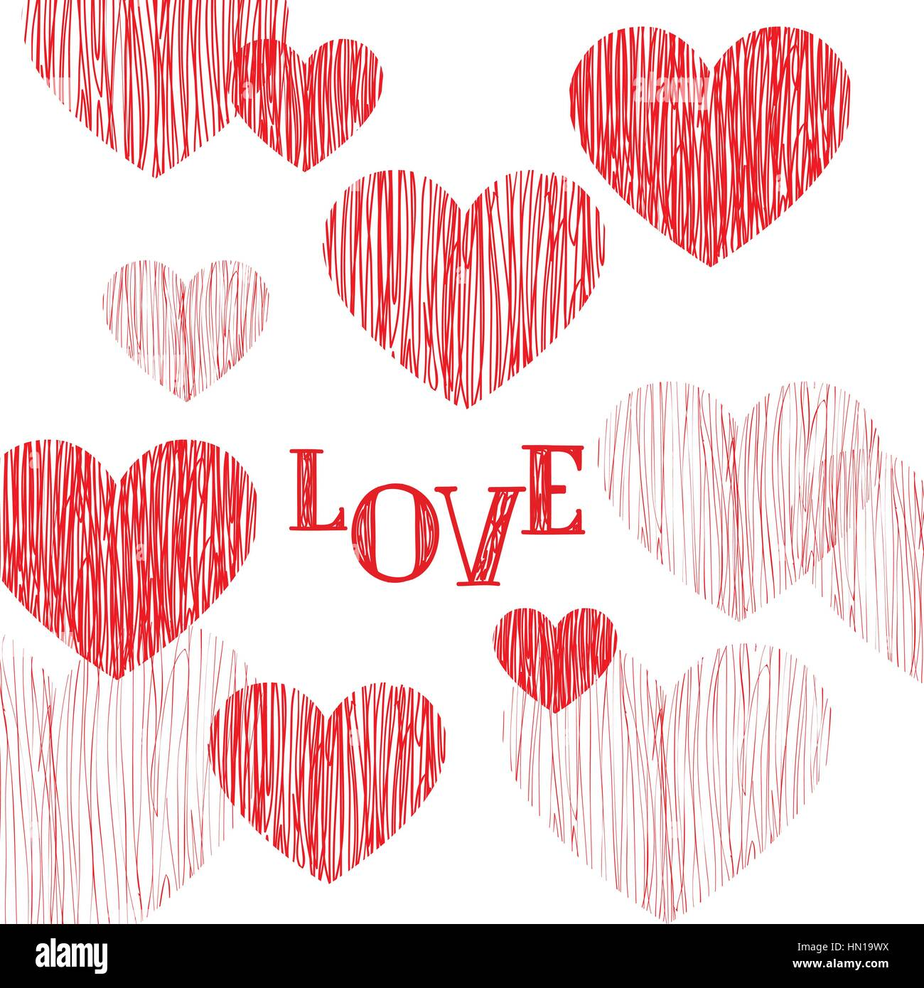 Love pattern happy valentines day card love heart pencil sketch happy valentines day card love heart pencil sketch background valentines day greeting card design m4hsunfo Choice Image