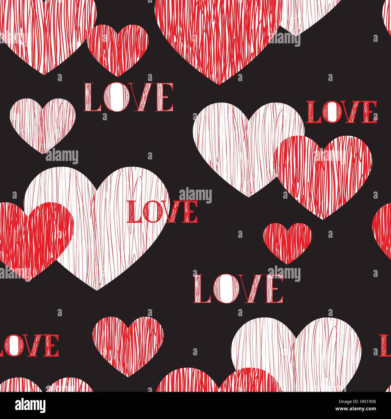 Love Heart Seamless Pattern Happy Valentines Day Wallpaper Love