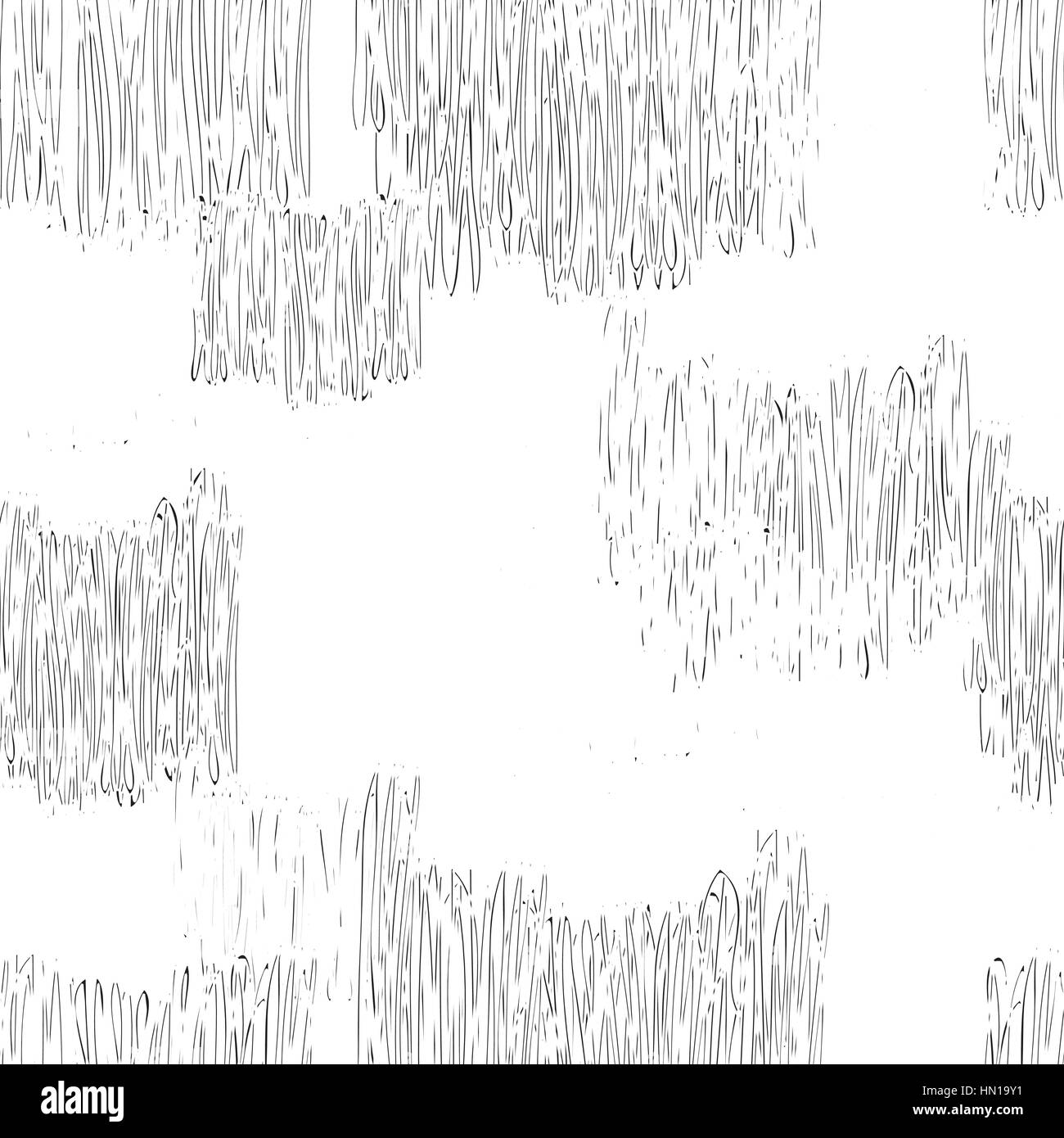 Abstract geometric seamless pattern black and white pencil