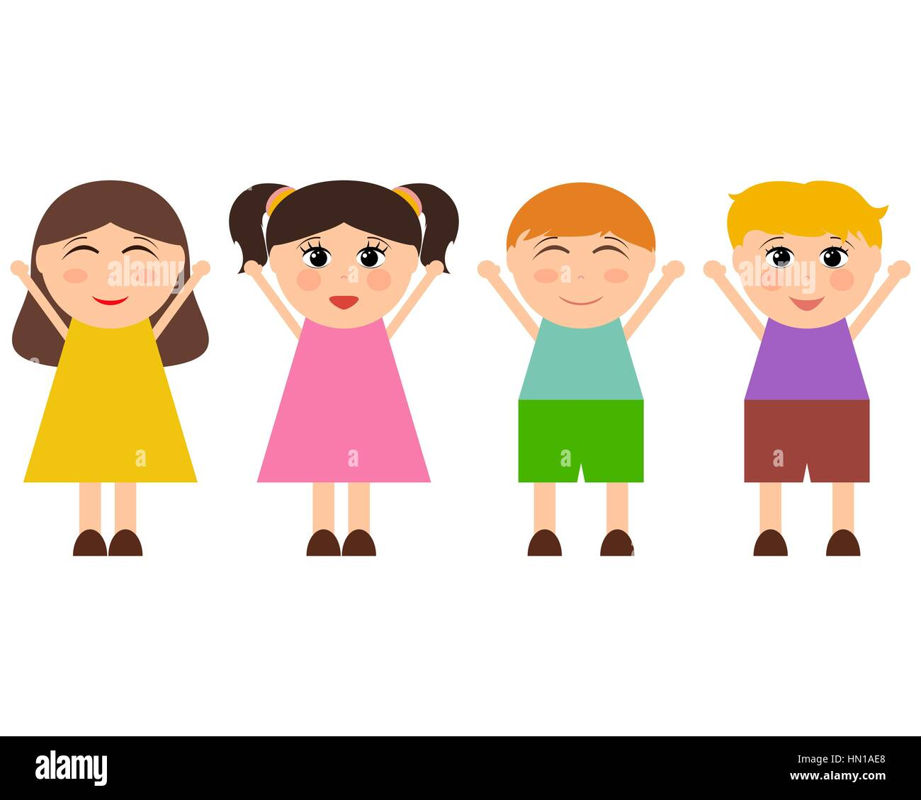 Funny Cartoon Images Of Boys cartoon funny girls and boys stock vector art & illustration