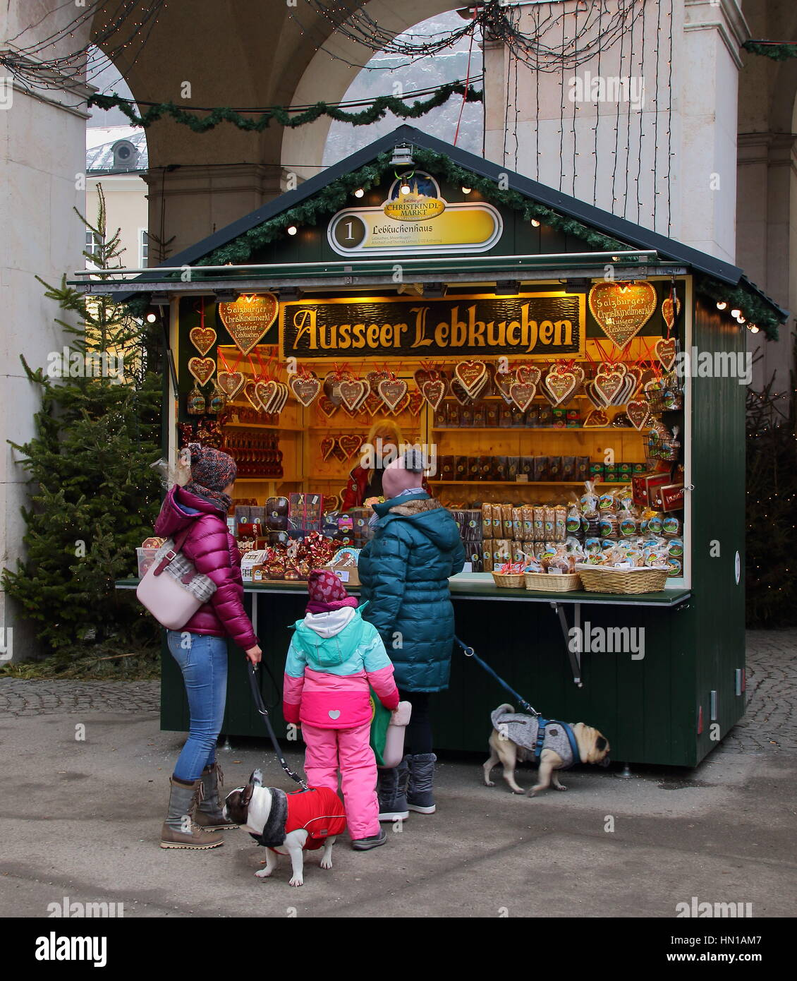 Christmas markets in Europe are an annual celebration - Stock Image