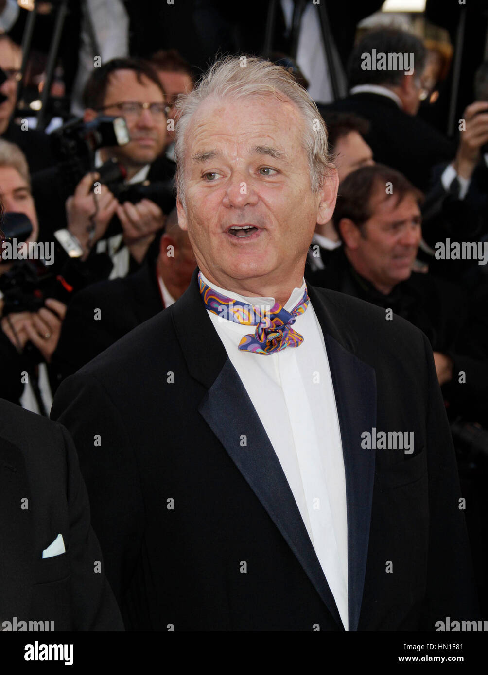 Bill Murray arrives at the opening night premiere of 'Moonrise Kingdom' at the 65th Cannes Film Festival - Stock Image
