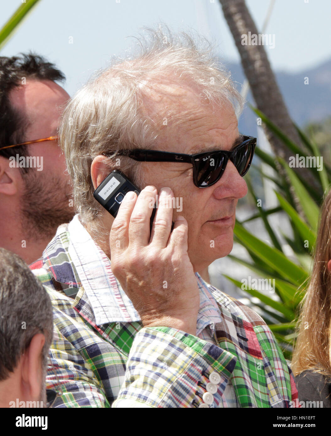 Bill Murray arrives at the photo call for the film, 'Moonrise Kingdom' during the 65th Cannes Film Festival - Stock Image