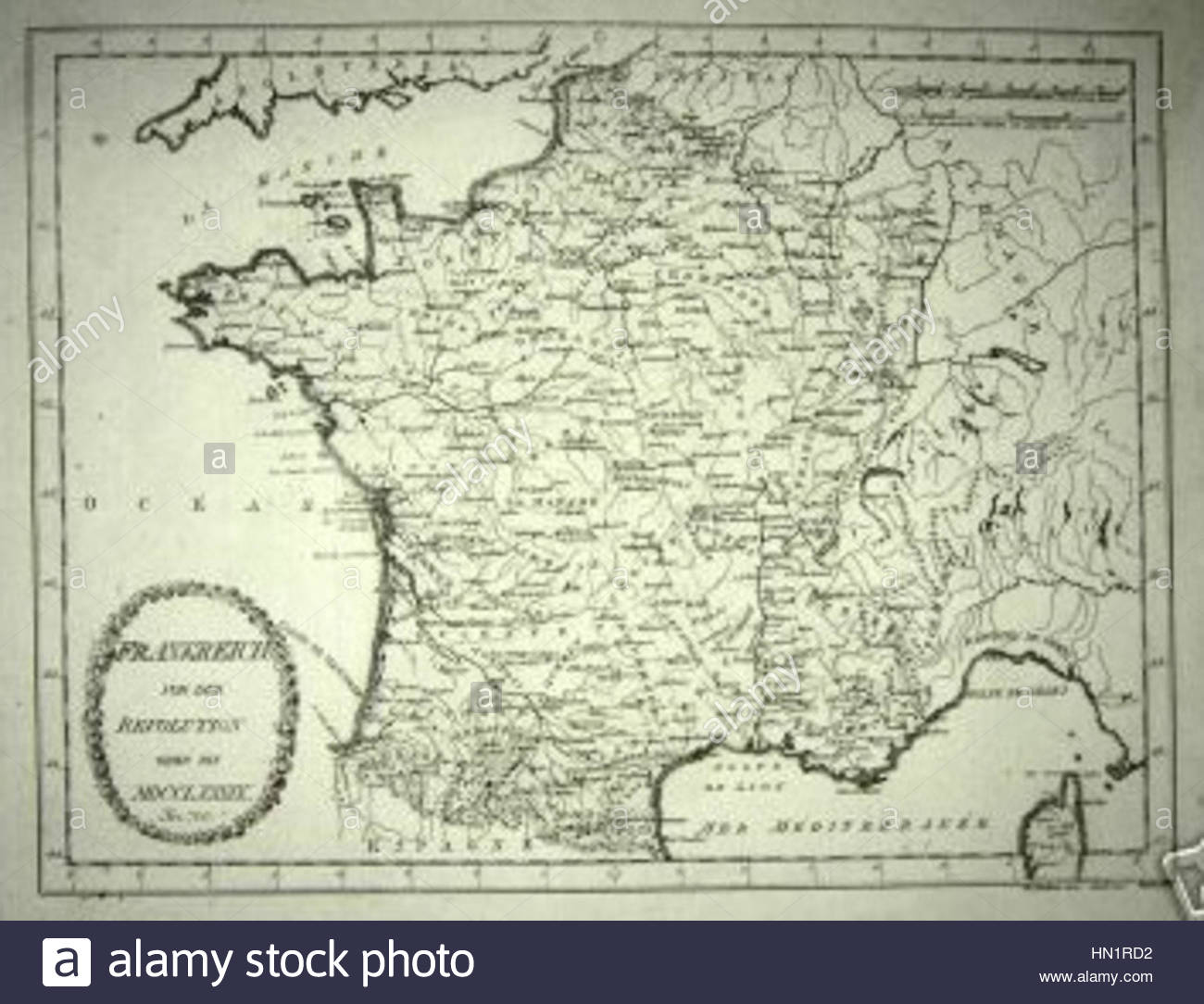 Map Of France In 1789.Map Of France In 1789 By Reilly 700 Stock Photo 133420702 Alamy