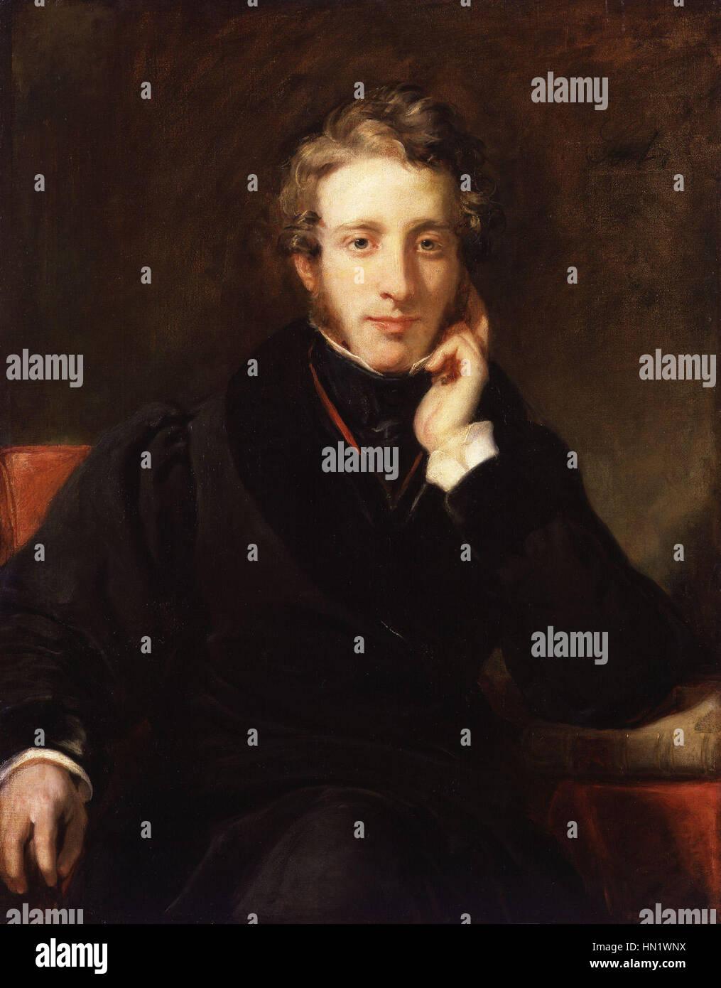 Edward George Earle Lytton Bulwer Lytton, 1st Baron Lytton by Henry William Pickersgill Stock Photo