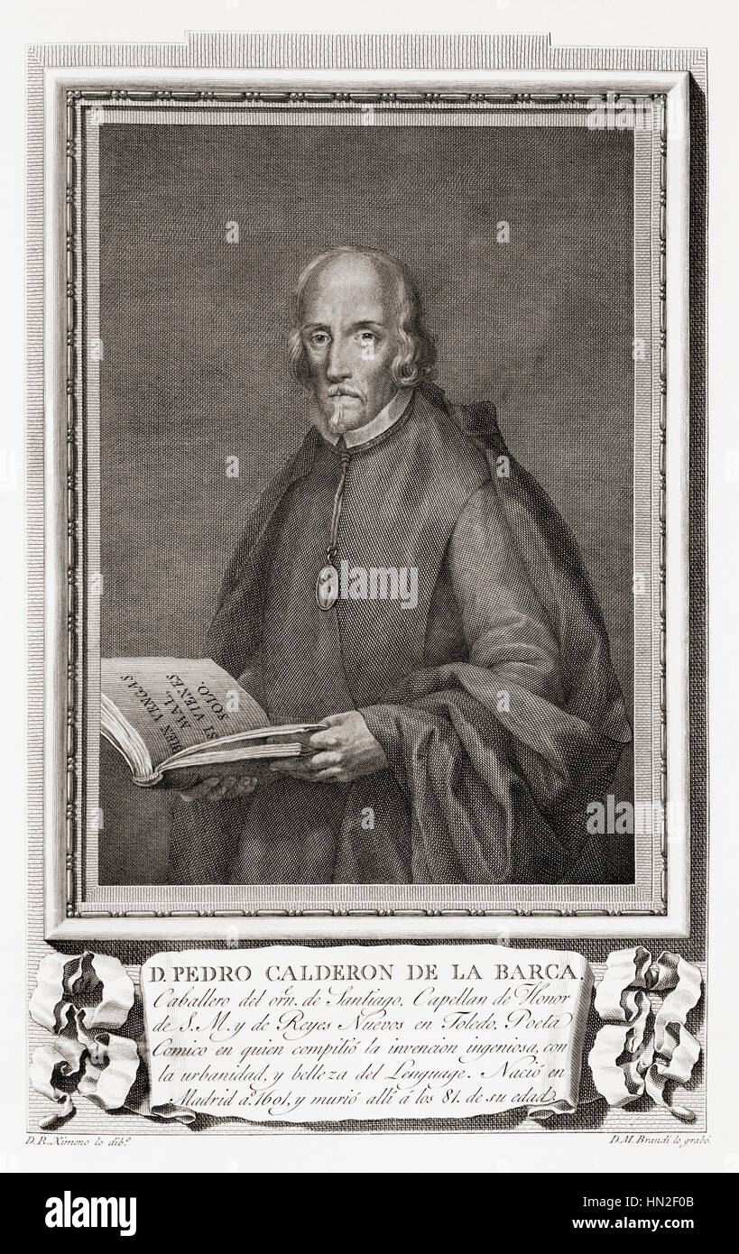 Pedro Calderón de la Barca y Barreda González de Henao Ruiz de Blasco y Riaño, 1600 – 1681.  Spanish - Stock Image