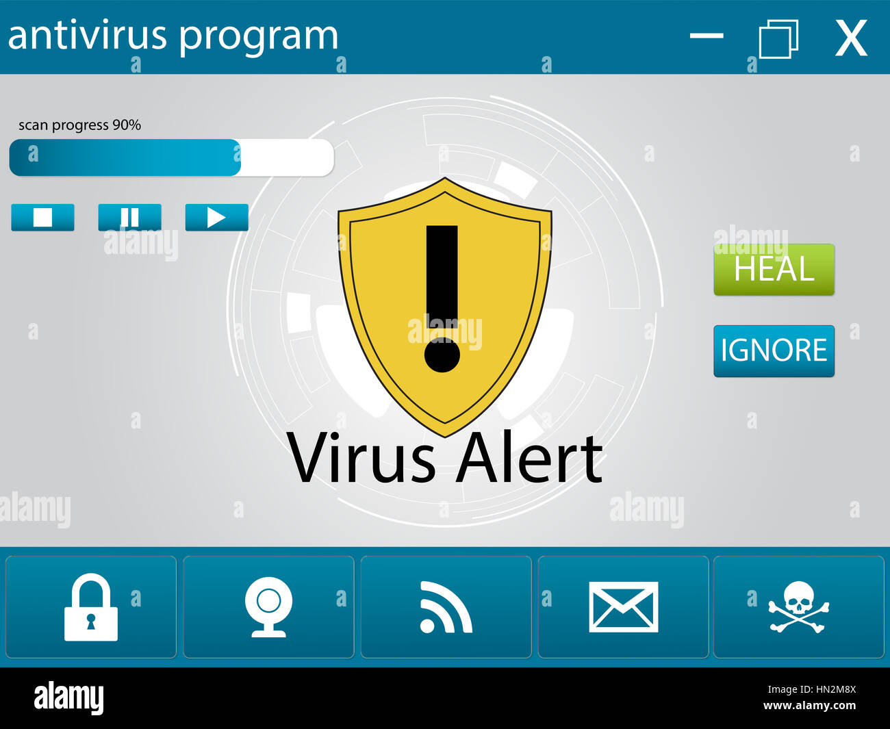 computer antivirus program - Stock Image