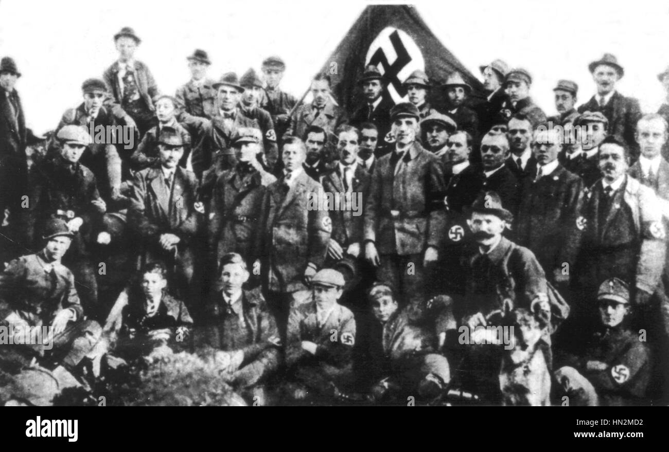 S.A. gathering in Cobourg October 14 and 15, 1922 Germany - Stock Image