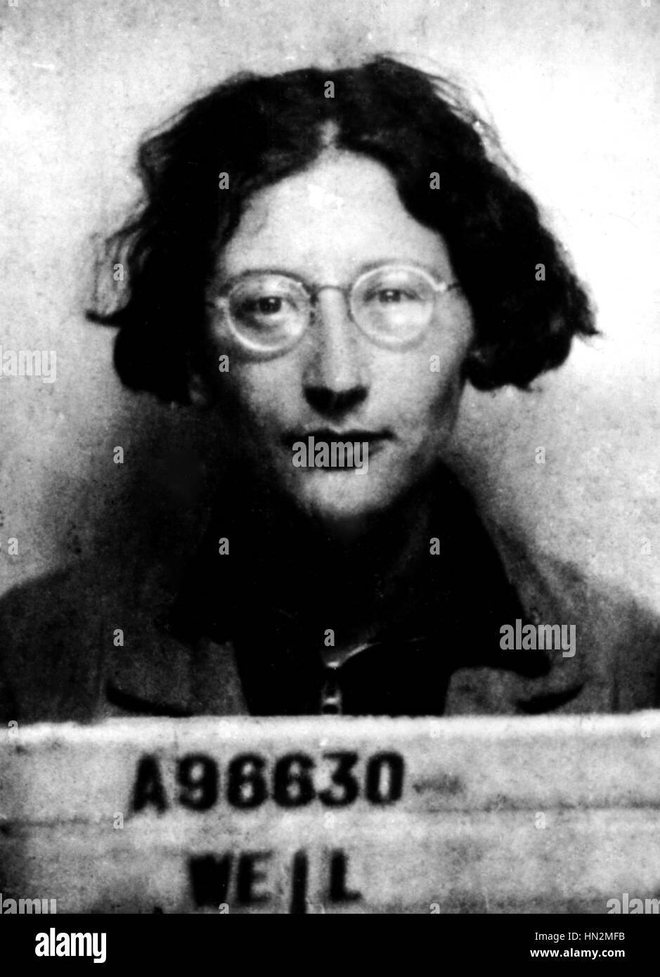 Simone Weil\'s factory administrative number (1909-1943). (She was a ...