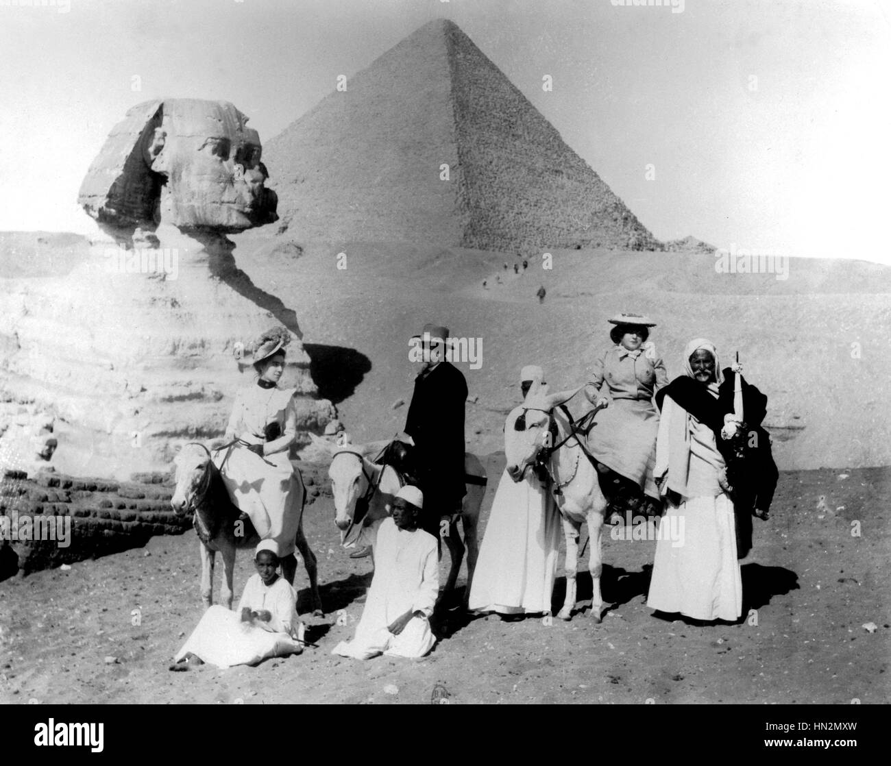 Anatole France with Madame Armand de Cailleret in Egypte 1901 France Paris. National Library - Stock Image