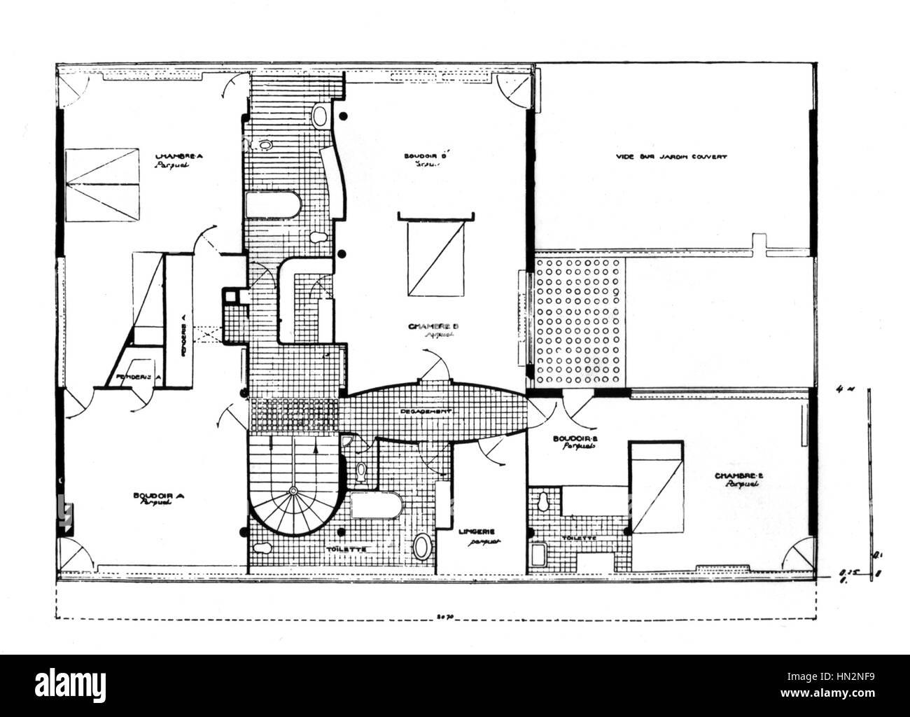 Villa Le Corbusier Garches Stock Photos Amp Villa Le