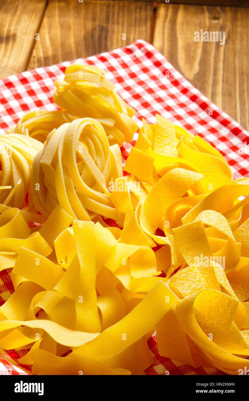 home made tagliatelle Italian pasta - Stock Image