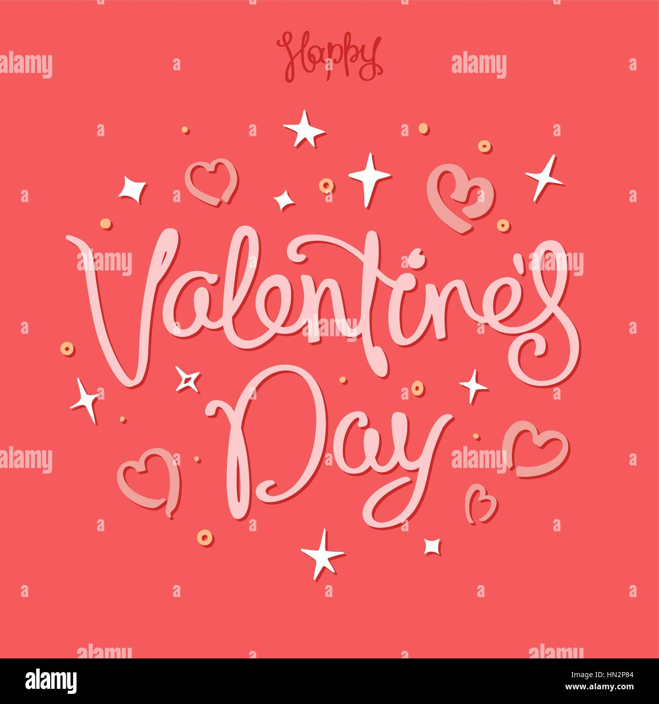 Funny happy valentines day greetings card trendy handwritten stock funny happy valentines day greetings card trendy handwritten calligraphy composition design elements vector illustration m4hsunfo