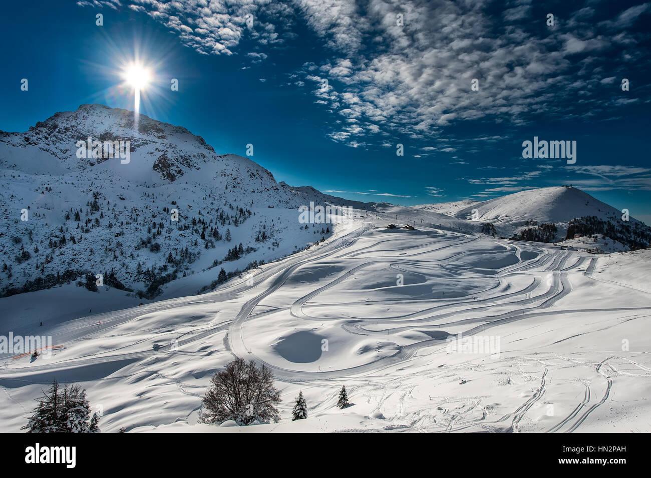 Ski cross-country skiing - Stock Image