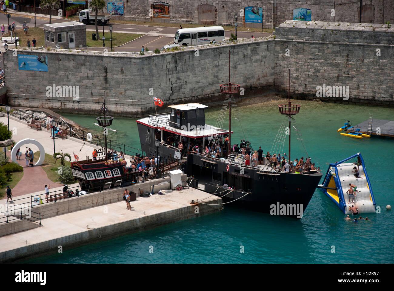 Royal Naval Ship Calico Pirate Dockyard Photo Jack's Bermuda Stock 6vYf7gby