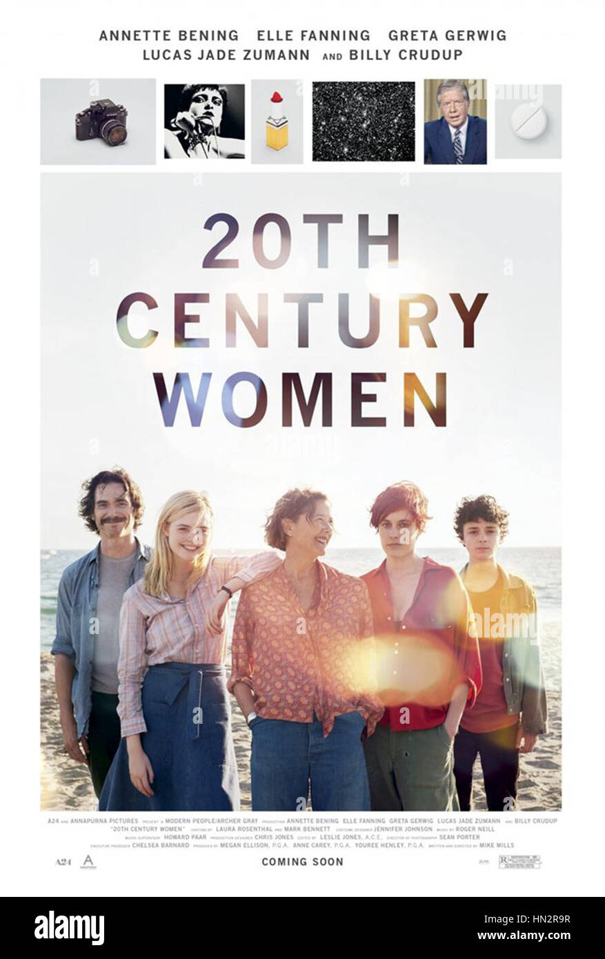 20TH CENTURY WOMEN (2016)  MIKE MILLS (DIR)  ANNAPURNA PICTURES/MOVIESTORE COLLECTION LTD - Stock Image