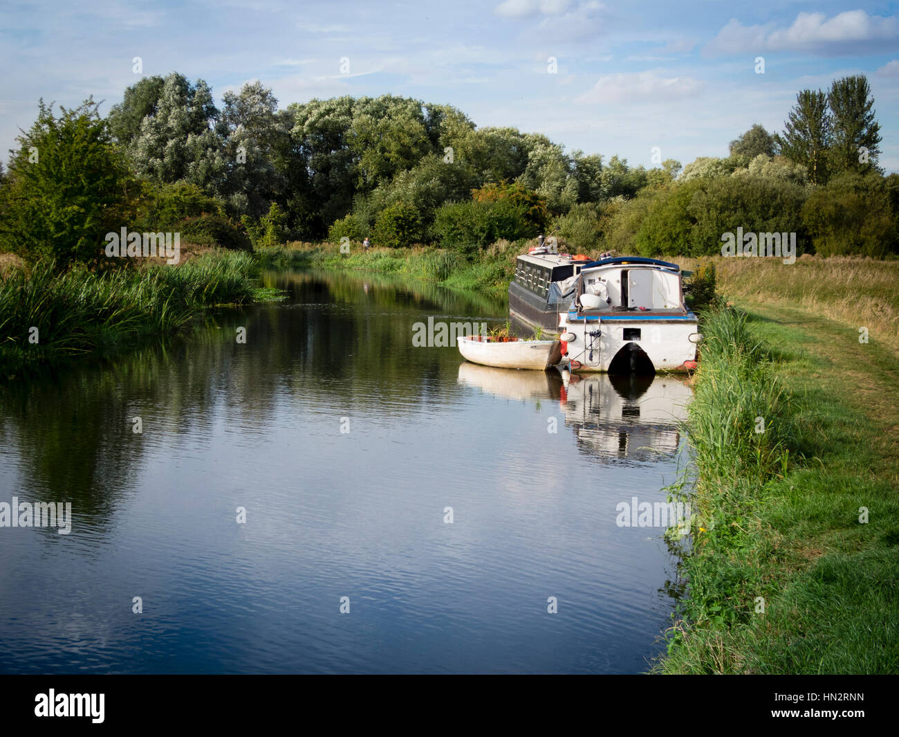 Boats on the River Stort Stock Photo