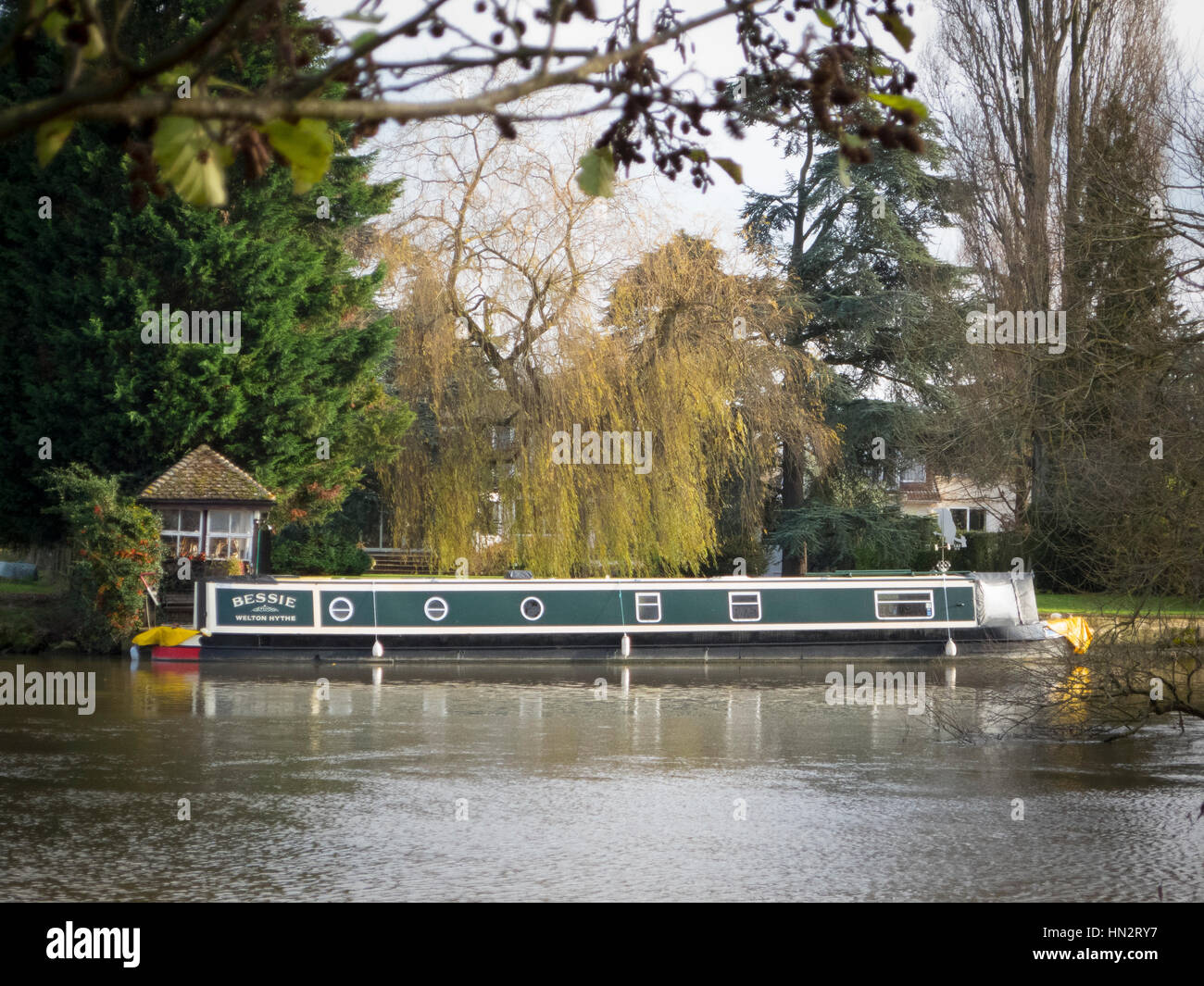 canal boat Stock Photo
