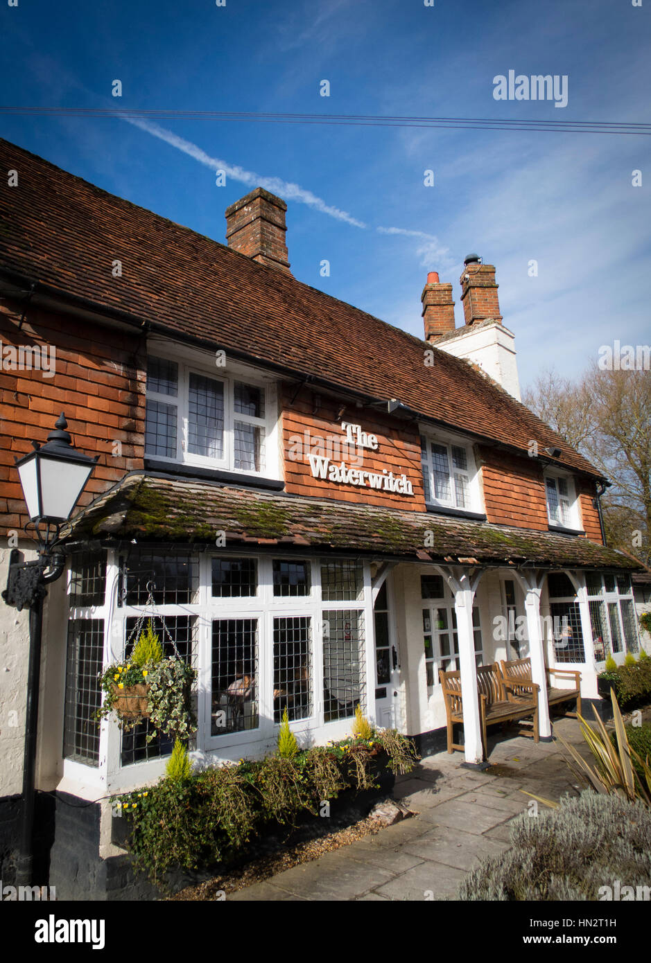 The Waterwitch Pub in Odiham Stock Photo