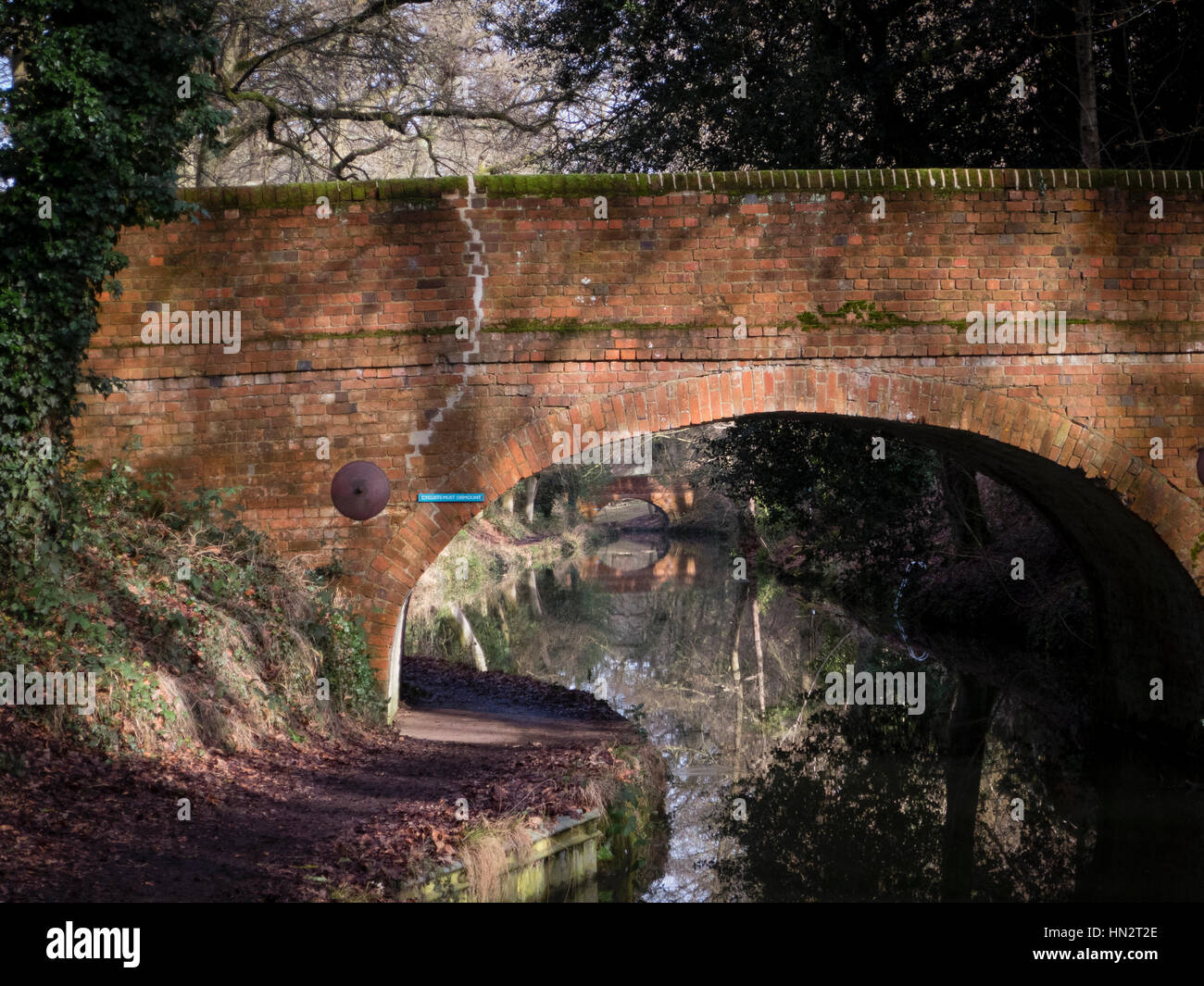 Bridges on the Basingstoke Canal Stock Photo