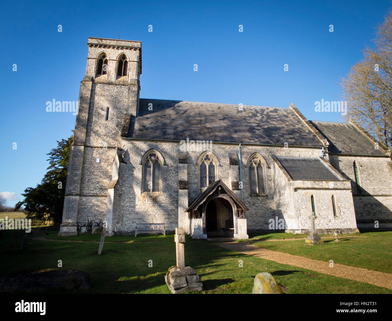 All Saints Church in Dogmersfield, Hampshire Stock Photo