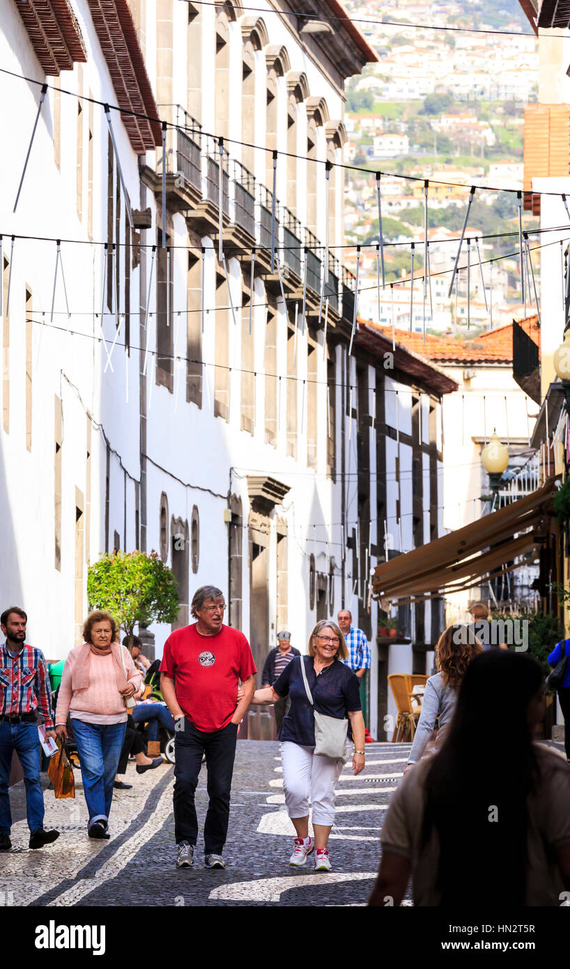 street view, Funchal, Madeira - Stock Image