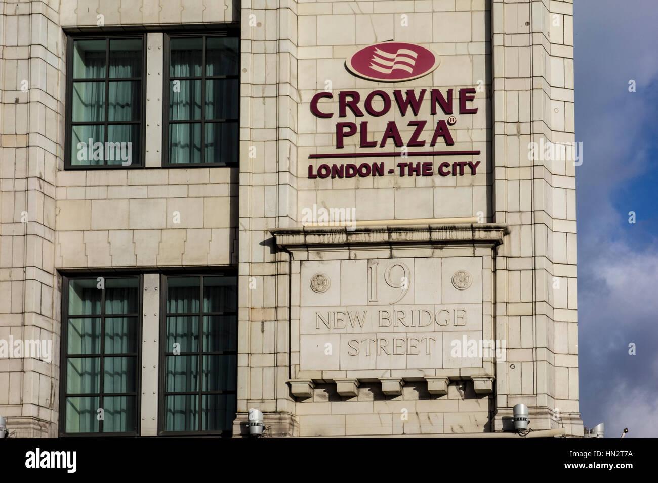 Crown Plaza London - The City hotel, City of London, UK - Stock Image