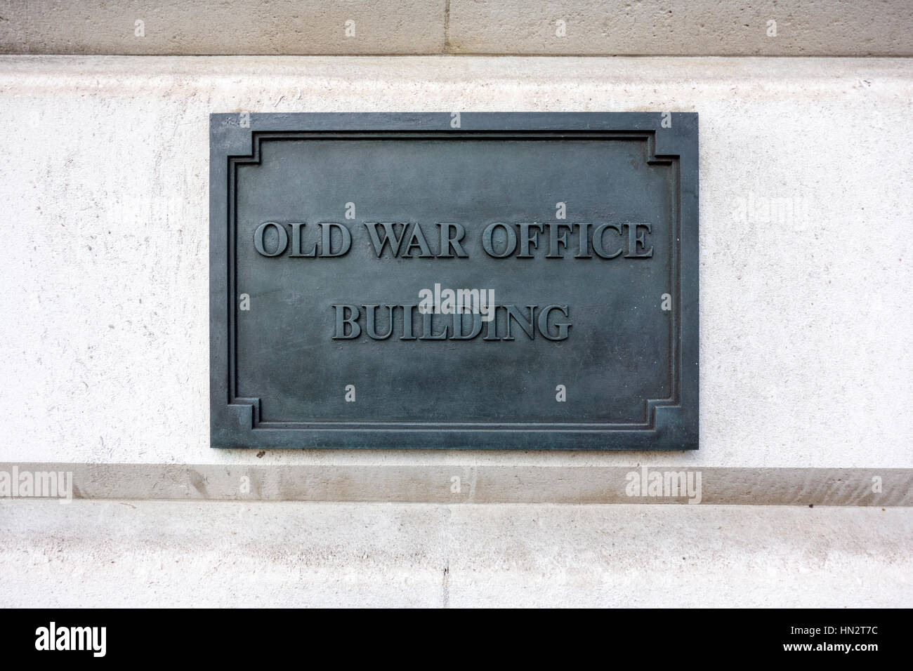 Old war office building sign, London, UK - Stock Image