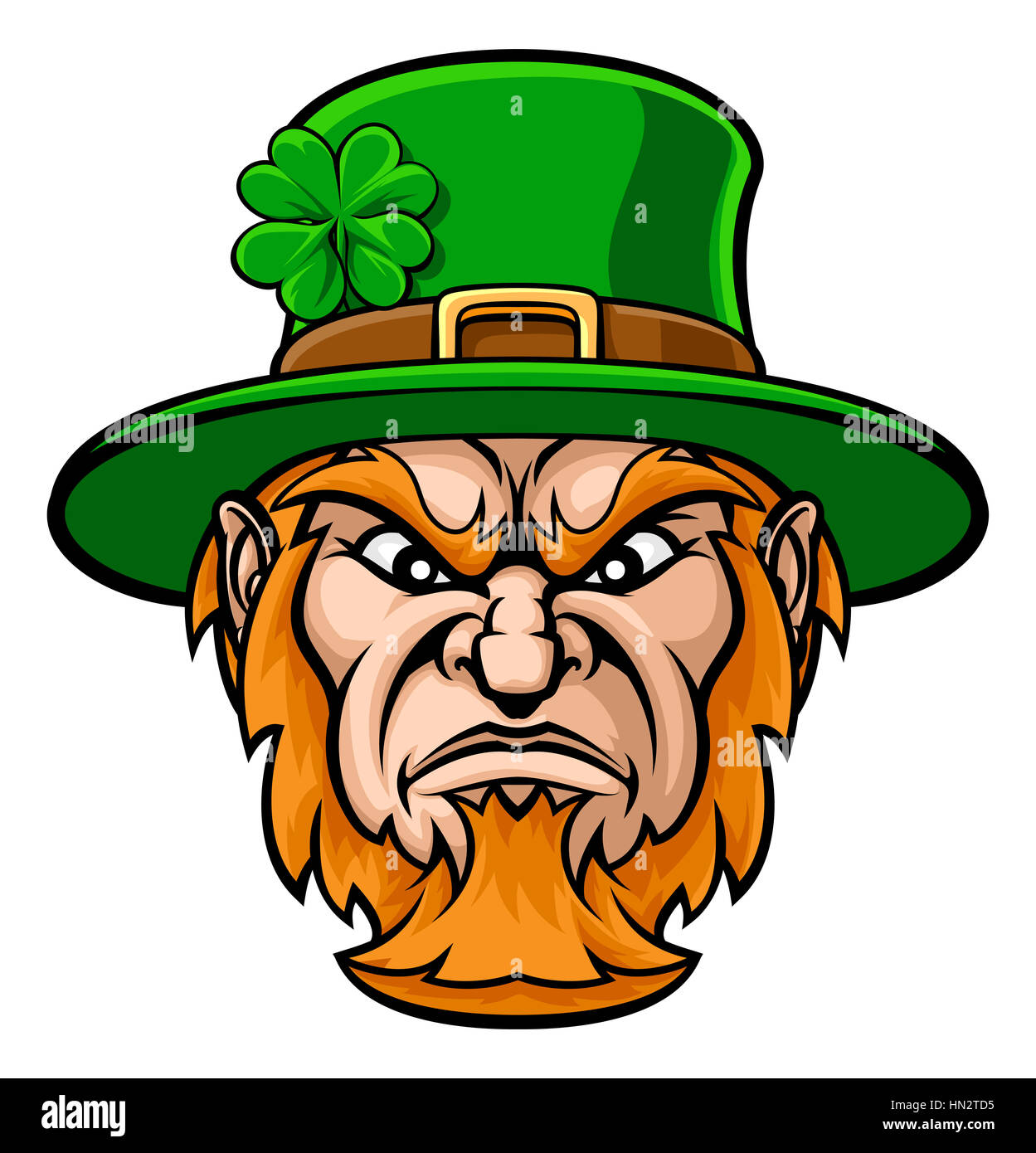 Tough cartoon leprechaun st patricks day character or sports mascot tough cartoon leprechaun st patricks day character or sports mascot altavistaventures