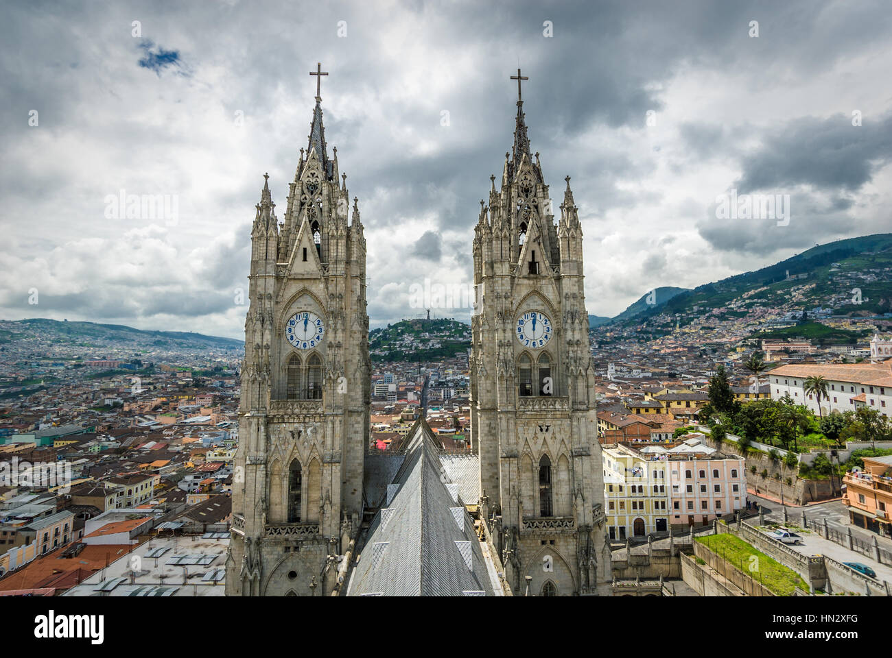 Basilica del Voto Nacional, Quito, Ecuador - Stock Image