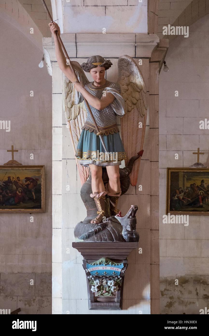 statue, dragon, george, saint, monument, history, art, sculpture, europe, culture, architecture, landmark, bronze, - Stock Image
