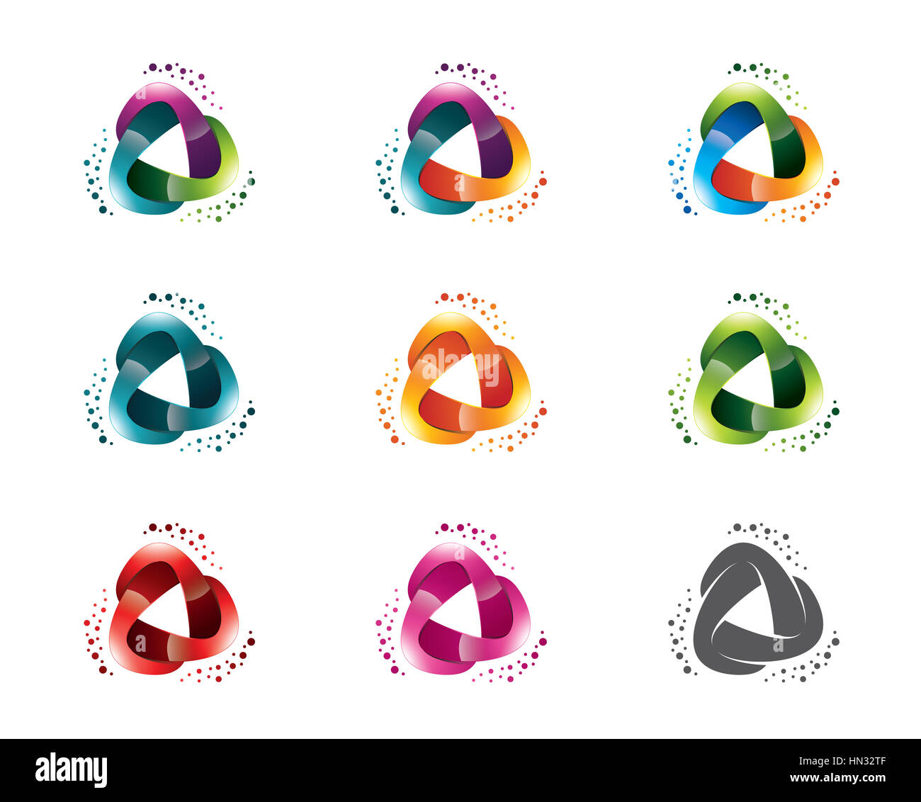 3d triangle business identity logo template triangle vector logo