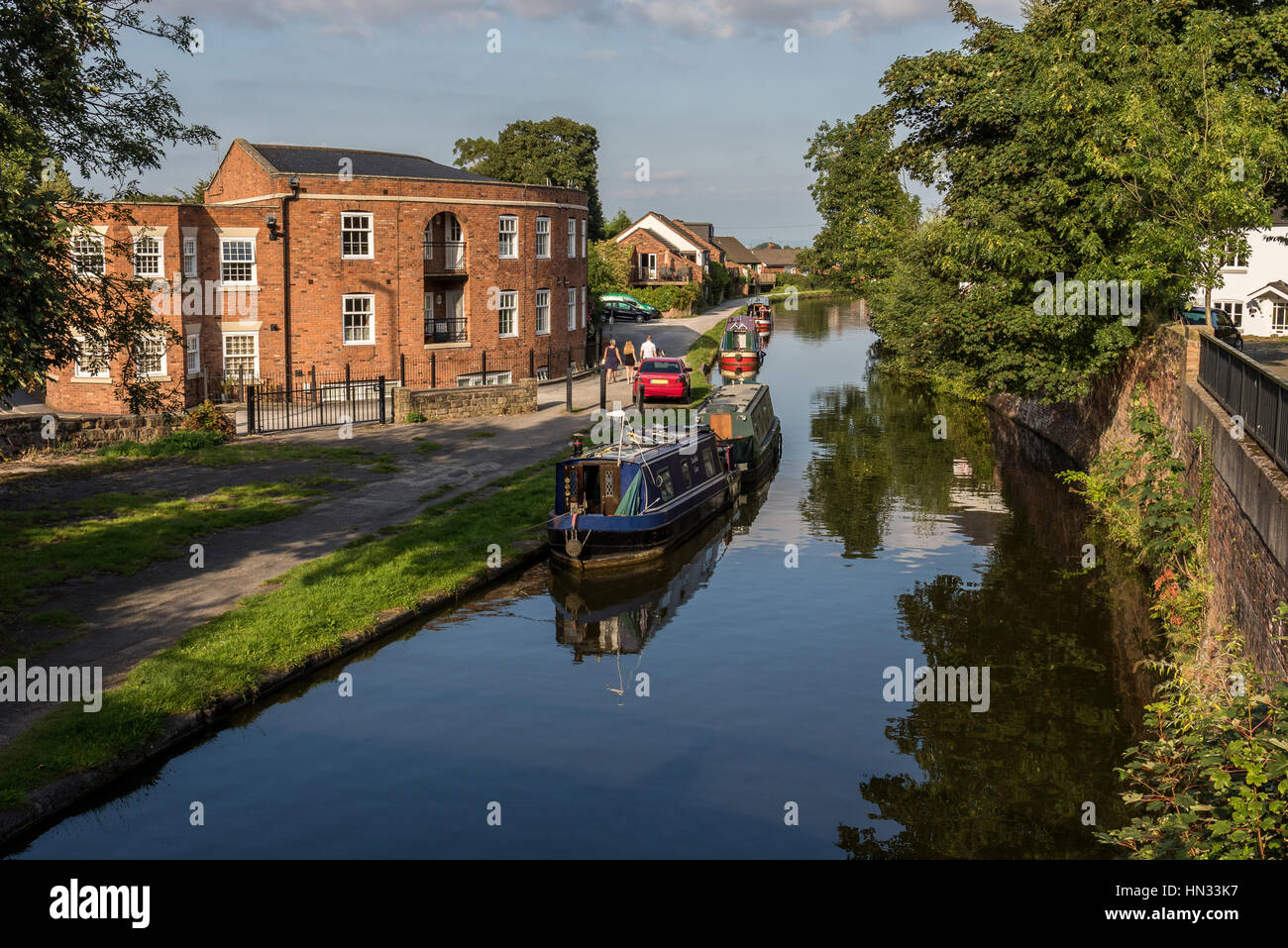 Bridgewater Canal at Lymm, Cheshire, UK - Stock Image