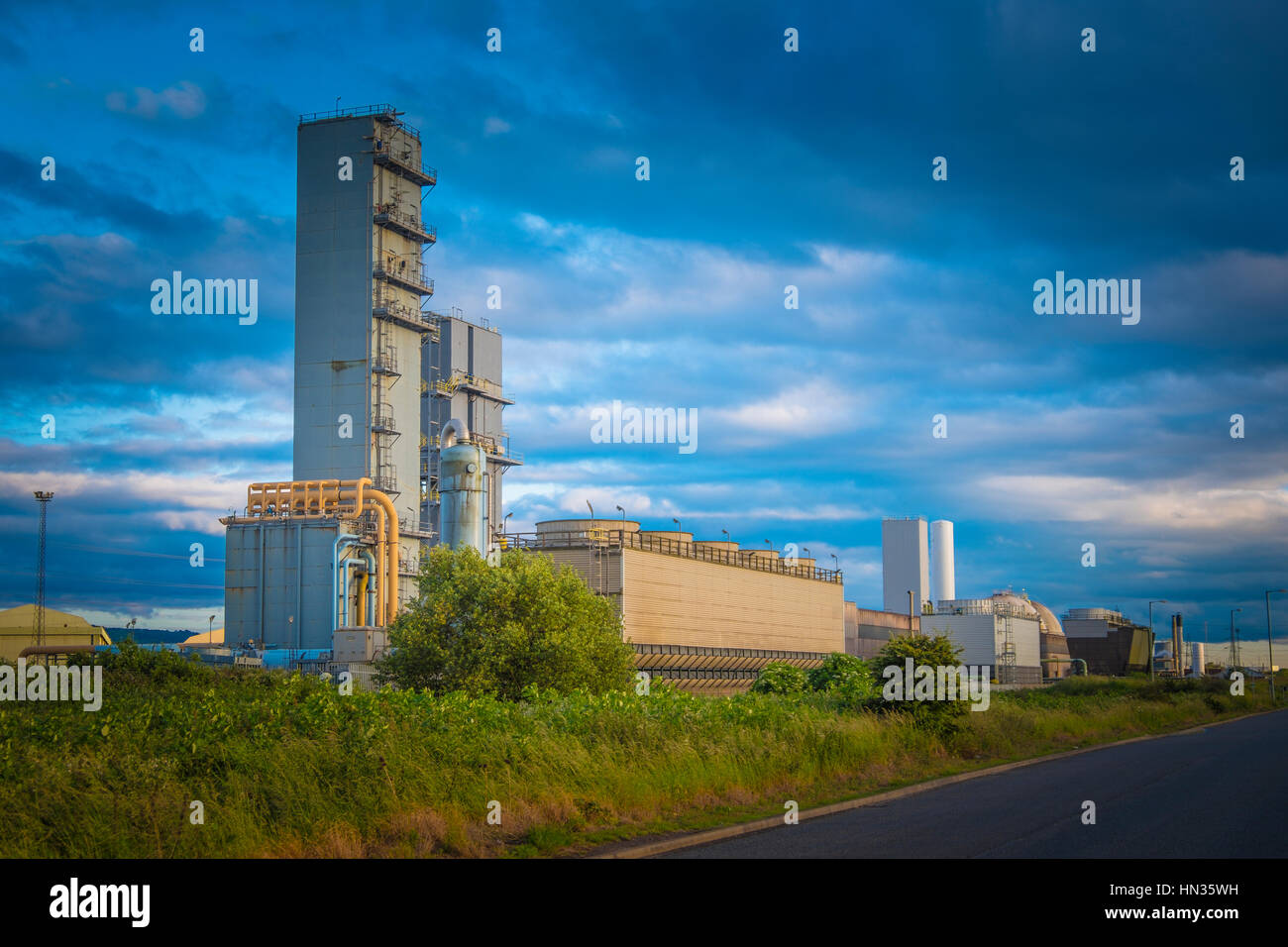 BOC Industrial works on Teeside. - Stock Image