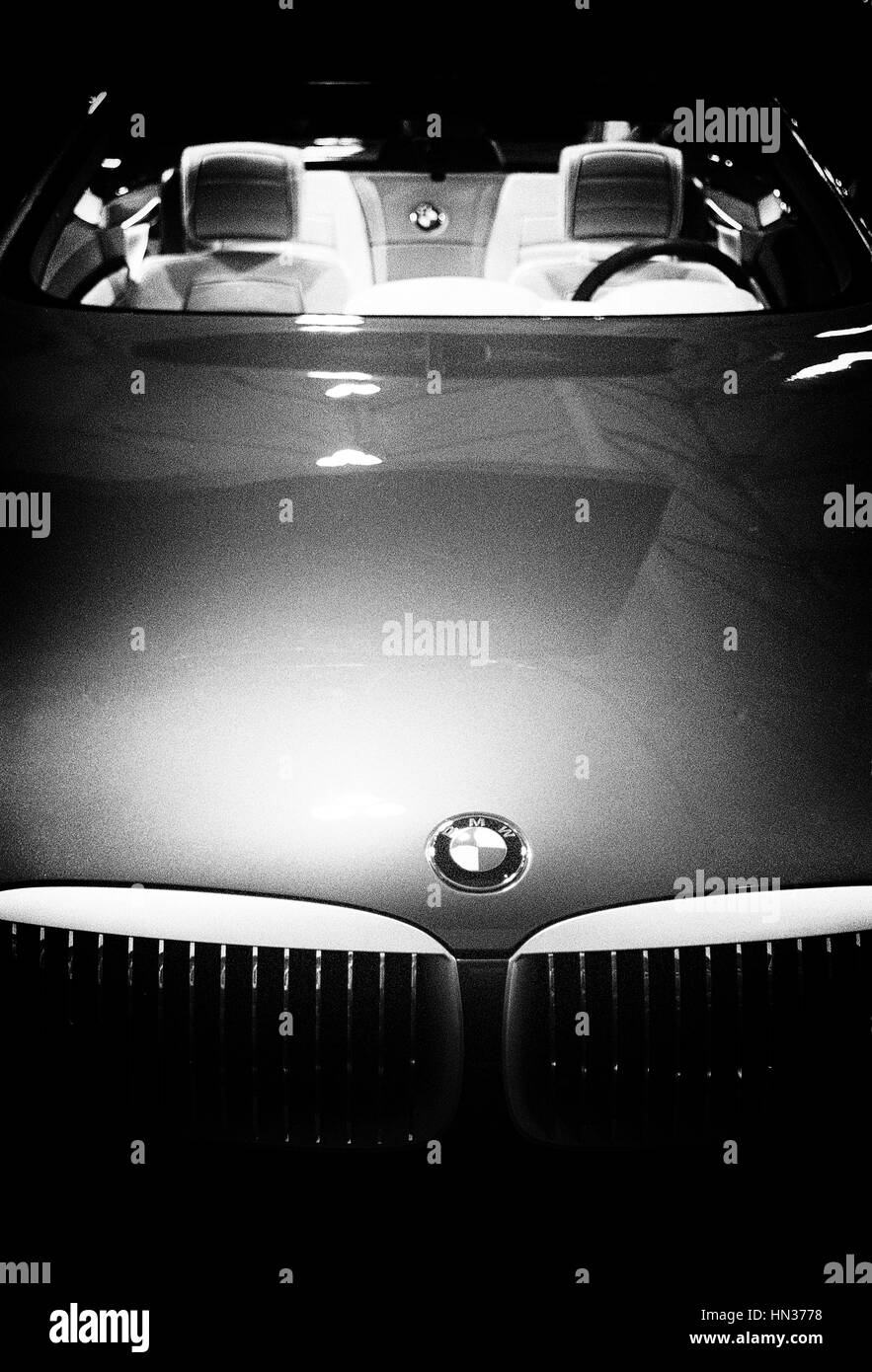 Concept BMW convertible car - Stock Image
