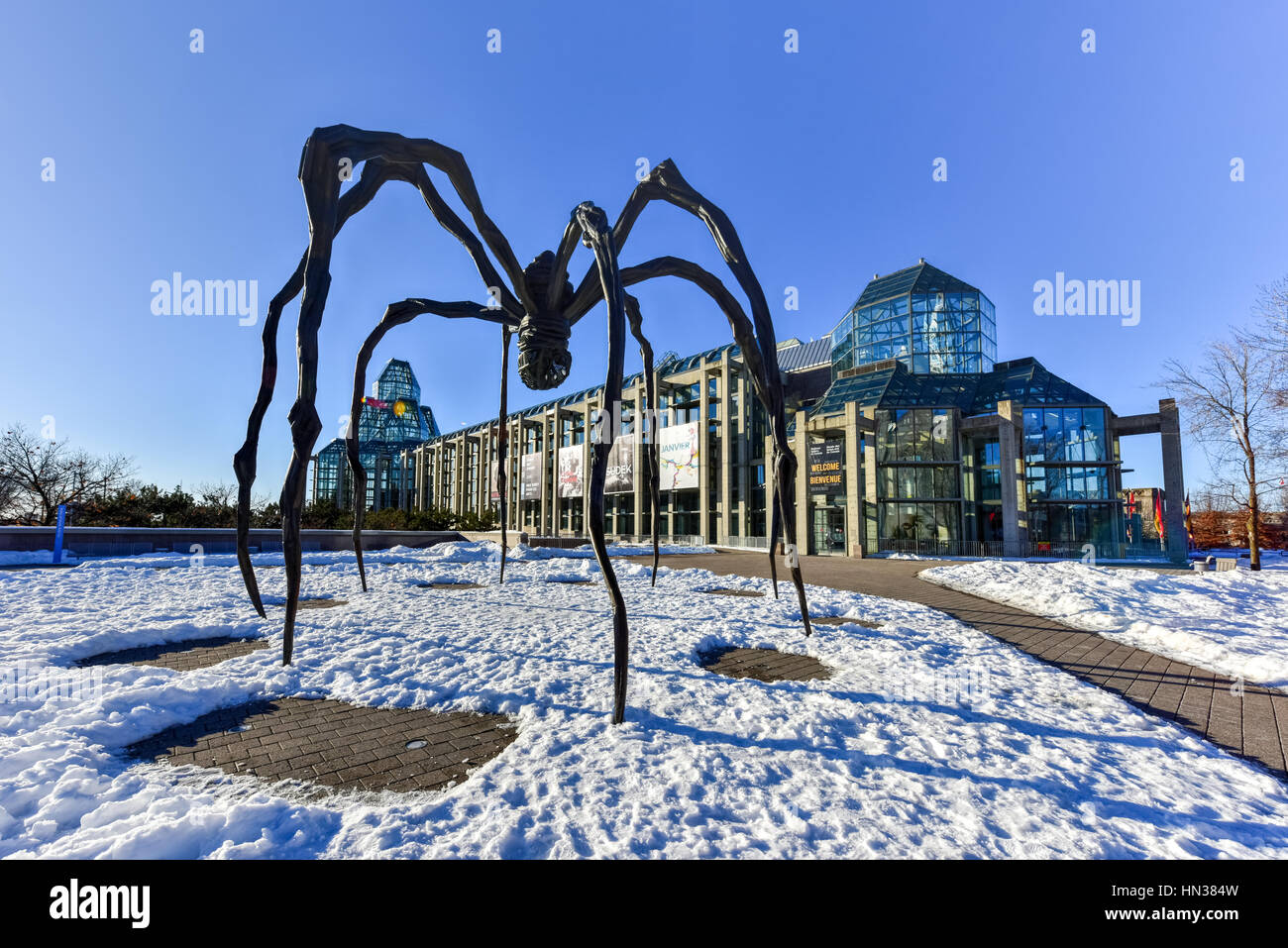 Spider sculpture in front the National Gallery of Canada located in