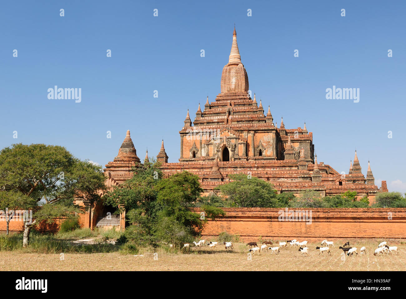 Myanmar (Burma), Bagan, Sulamani Pahto - is one of Bagan's most attractive. This temple, known as the Crowning - Stock Image