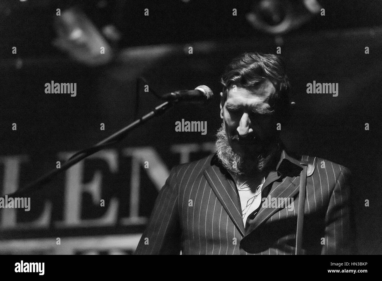 Bergamo, Italy 27 January 2017. Italian indie rock band Marlene Kuntz (Onorate il vile tour) perform at music club Stock Photo
