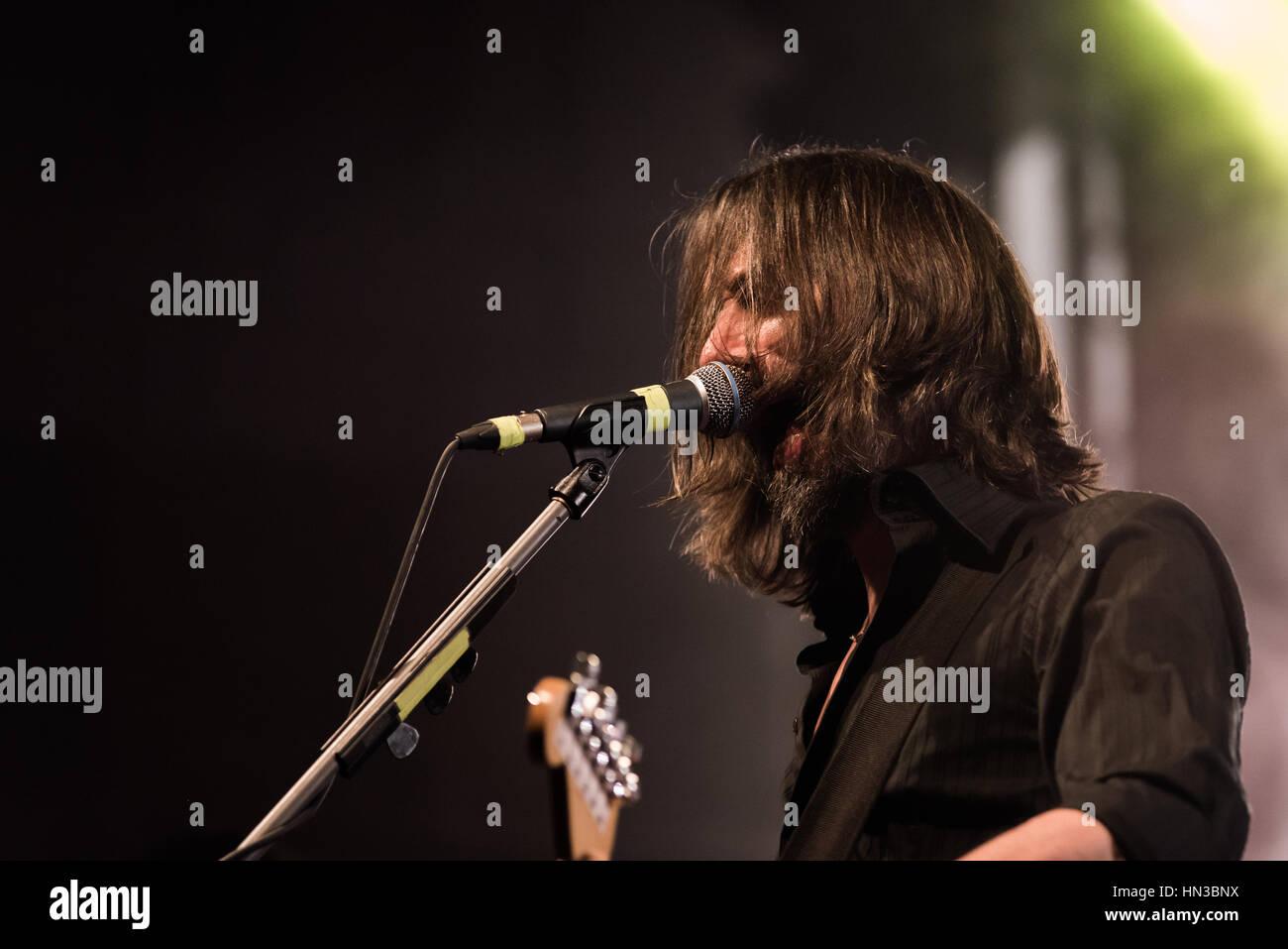Bergamo, Italy 27 January 2017. Italian indie rock band Marlene Kuntz (Onorate il vile tour) perform at music club Stock Photo