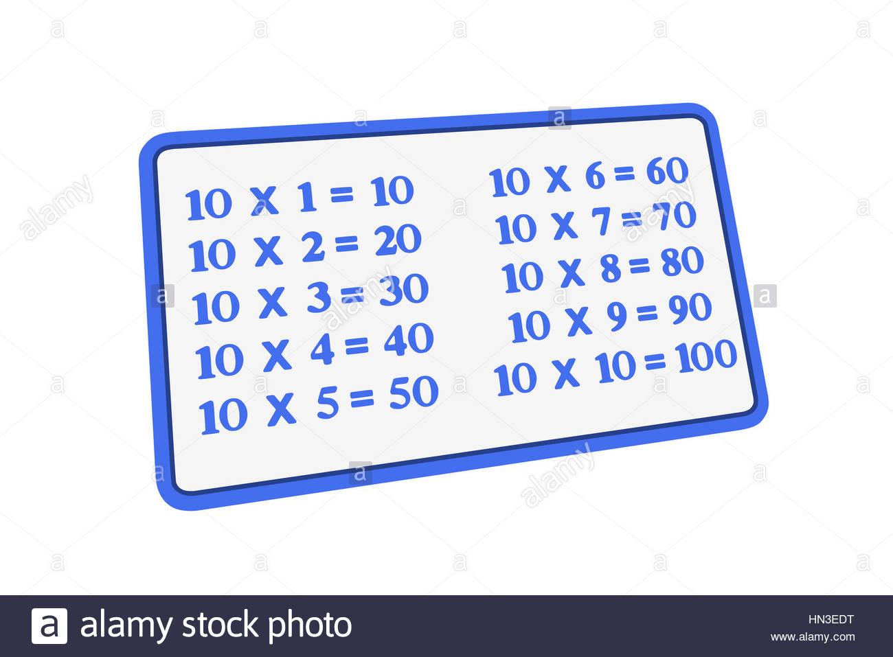 Multiplication Tables Stock Photos Multiplication Tables Stock