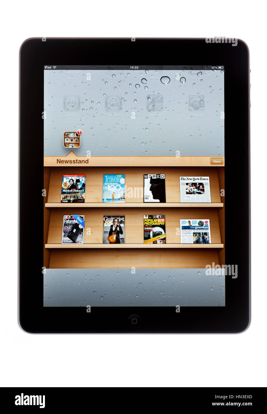 how to delete magazines from newsstand on ipad