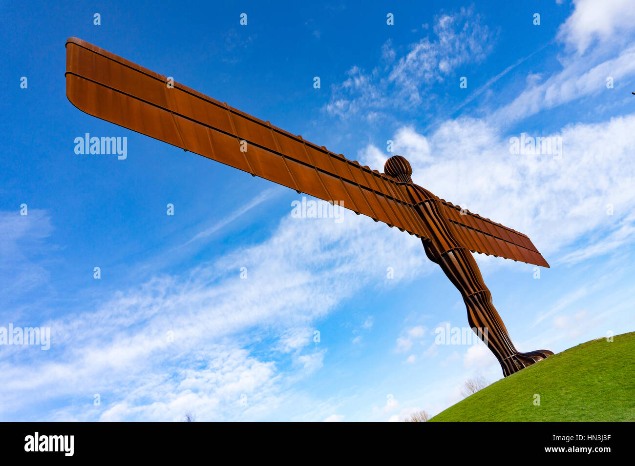 Anthony Gormleys Angel of the North Sculpture  in Gateshead - Stock Image