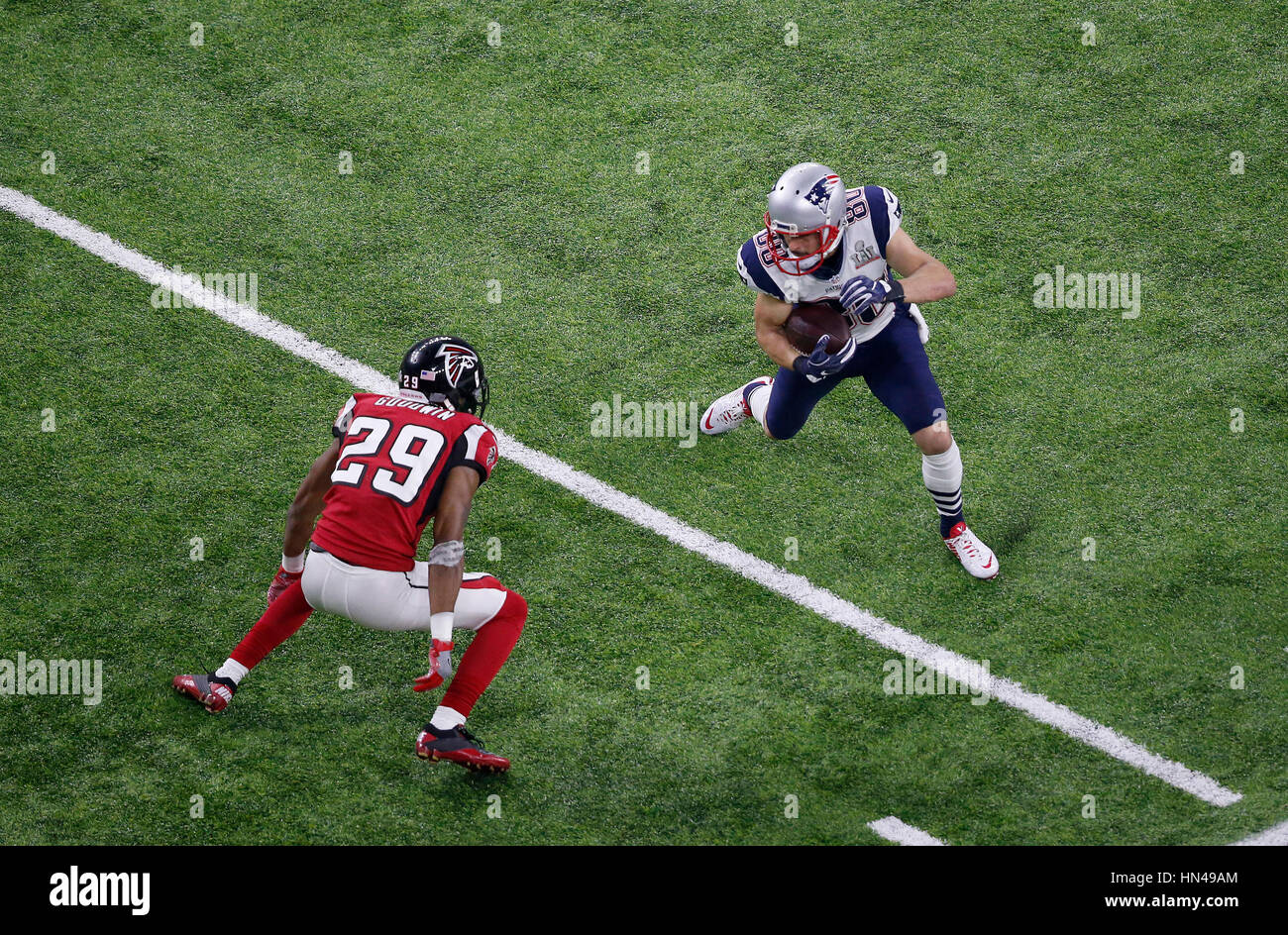 1bc9e45a6 February 05, 2017 New England Patriots wide receiver Danny Amendola (80)  carries the ball during Super Bowl LI between the New England Patriots and  the ...